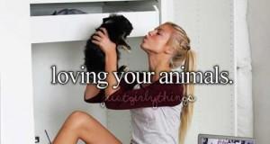 Kochanie zwierzątek...