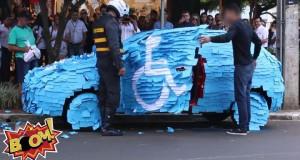 W końcu to parking dla niepełnosprawnych