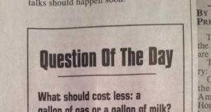 Co powinno mniej kosztować: Litr mleka czy benzyny?