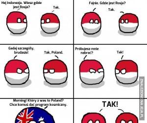 """Tak, to po indonezyjsku """"nie""""."""