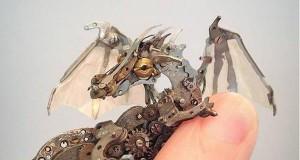 Stare zegarki przerobione na steampunkowe dzieła sztuki