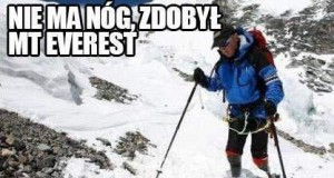 Nie ma nóg, zdobył Mount Everest