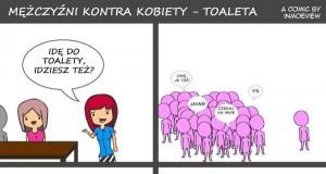 Toaleta - różnica damsko-męska