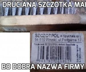 Druciana szczotka marki SZCZOTPOL