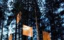 Lustrzany domek na drzewie