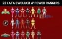 22 lata ewolucji w Power Rangers