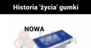 Historia gumki