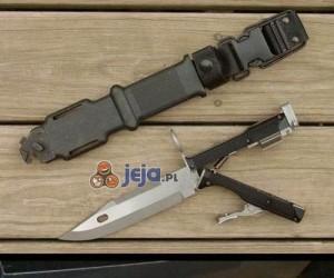 Nowoczesny nóż z wbudowanym rewolwerem