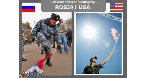Rosja vs USA - Flaga