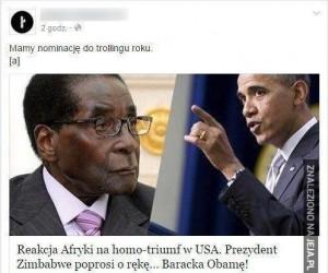 Trolling lvl: Zimbabwe