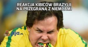 Reakcja kibiców Brazylii na przegraną z Niemcami