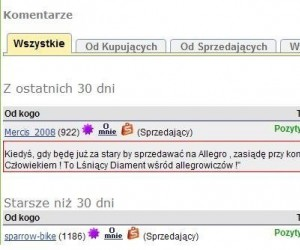 Komentarz Allegro
