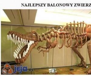 Dinozaur z balonów