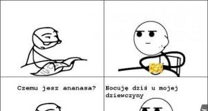 Ananas jest słodki