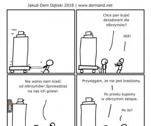Dezodorant dla olbrzymów