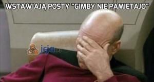 """Wstawiają posty """"Gimby nie pamietajo"""""""