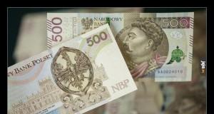 Banknot 500zł cieszy oko