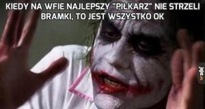 """Kiedy na WFie najlepszy """"piłkarz"""" nie strzeli bramki, to jest wszystko ok"""