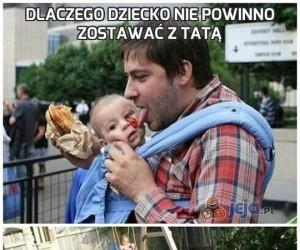 Dlaczego dziecko nie powinno zostawać z tatą