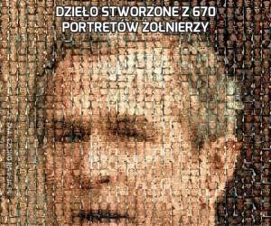 Dzieło stworzone z 670 portretów żołnierzy