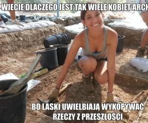 Kobiety uwielbiają archeologię
