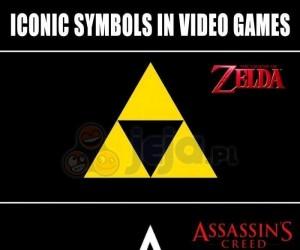 Ikoniczne symbole znanych gier