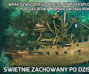 Wrak szwedzkiego okrętu, który eksplodował podczas bitwy morskiej w 1564 roku