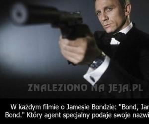 W każdym filmie o Jamesie Bondzie