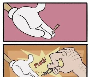 Drzazga w palcu Pinokia