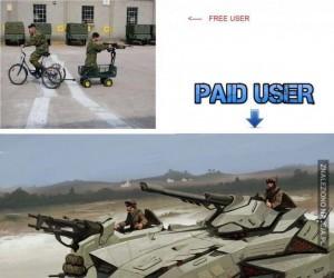 Darmowi userzy vs Ci, którzy płacą