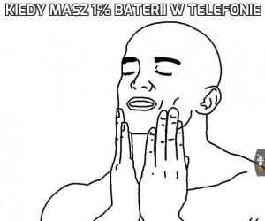 Kiedy masz 1% baterii w telefonie