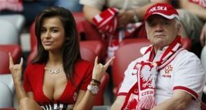 Kibice na meczu Polska-Rosja
