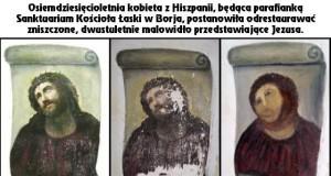 Odrestaurowany wizerunek Jezusa