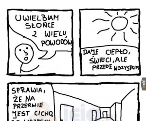 Dlaczego lubię słońce