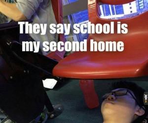 Skoro szkoła to mój drugi dom...