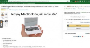 Jedyny MacBook, na jaki mnie stać