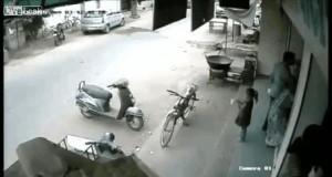 Chyba jednak za mała na skuter...
