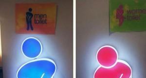 Toaleta męska i damska