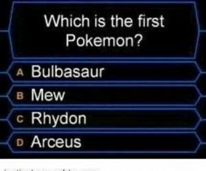 Który z pokemonów był pierwszy?