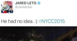 Jared Leto przebrany za małpę