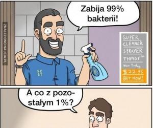 1% bakterii