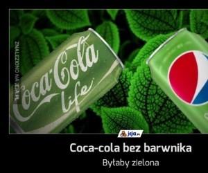 Coca-cola bez barwnika