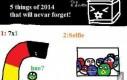 Pięć rzeczy o 2014, których nigdy nie zapomnimy