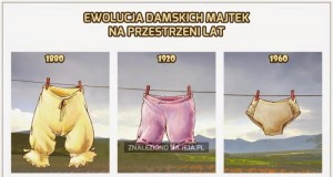 Ewolucja damskich majtek