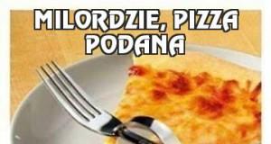Milordzie, pizza podana