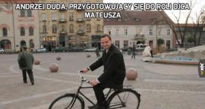 Andrzej Duda, przygotowujący się do roli Ojca Mateusza