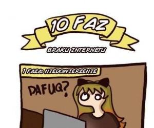 10 faz braku internetu