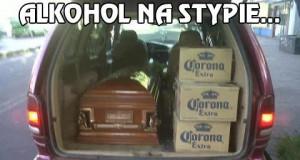 Alkohol na stypie...