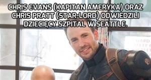 Kapitan Ameryka i Star-Lord z wizytą u chorych dzieci