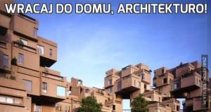 Wracaj do domu, architekturo!